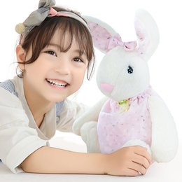 toys for pet rabbits NZ - 30CM Kawaii Plush Doll Cute Rabbit Long Ear Plush Rabbit Blue Pink Stuffed Animals Soft Doll Toys Pets Birthday Gifts For Girls Children