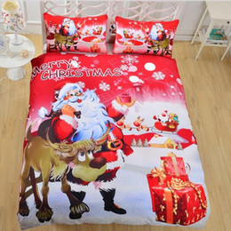 Discount christmas quilts - Christmas Series Quilt Home Textile Kit Bedding 3pcs