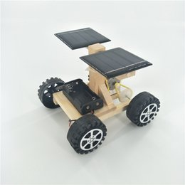 manufactured plastics Australia - Science and Technology Small-scale Manufacture of Children's Assembling Model Material for Solar Space Lunar Exploration Vehicle