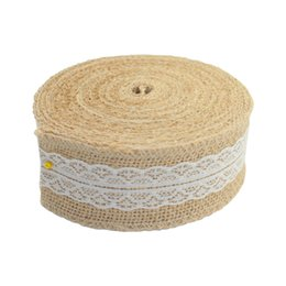 Wholesale 10 Meter Party Supplies Wedding Burlap Ribbon Natural Jute Roll Party Cake Decoration Christmas Tree Decorations New Bitfly