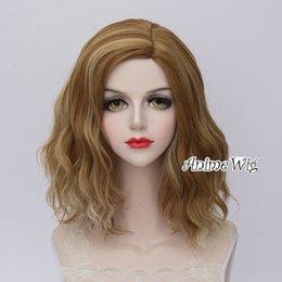 Discount lolita wigs blonde - Cute Lolita 35cm Short Curly Flaxen Mixed Blonde Ombre Cosplay Wig+Wig Cap>>>>>Free shipping New High Qua