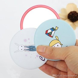 girls pocket mirrors Canada - Small Cute Multi Styles Round Makeup Mirrors Promotion Cartoon Pattern Portable Pocket Mini Cosmetic Mirror Women Girl Cosmetic BH0722 TQQ
