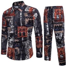 $enCountryForm.capitalKeyWord Australia - men's Clothes Two Piece Sets 2 piece flower linen set men's cotton and linen leisure suit combination series size 5xl