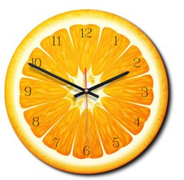$enCountryForm.capitalKeyWord NZ - Creative Cartoon Fruit Pattern Wall Clock Europe Style Fashion Wall Clocks Orange Lemon Kiwifruit Watermelon Shape Clock Home Bedroom Decor