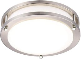 inch meters Canada - 13-Inch Double Ring Dimmable LED Flush Mount Ceiling Light, 36W (120W Equivalent), 1800lm, 5000K Daylight White