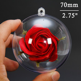 Clear Balls Australia - Clear Christmas Ball Ornaments Transparent Christmas Hanging Tree Decorative Balls Party Holiday Wedding Decor 70mm (5pcs)