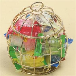 Wholesale Aureate Wire Cage Candy Box Alloy Circular Fashion Sugar Boxes Cheap And Fine Europe And The United States ff J1