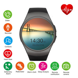 smart watch samsung NZ - Smart Watch KW18 smartwatch smart watch 1.3inch Round Dial watches For iPhone Samsung android ios BT4.0 Heart Rate Monitor Retail box