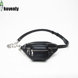 $enCountryForm.capitalKeyWord Australia - Women Chest Bag Mini Zipper Shoulder Bags Street Style Waist Bag Fashion Casual Zipper Pouch Black Travel Chain Belt B175