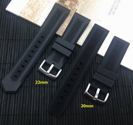 Discount buckle strap for watches - Luxury men black watchband 20mm 22mm silicone rubber watch band belt For TAG strap CARRER for Heuer buckle DRIVE TIMER l