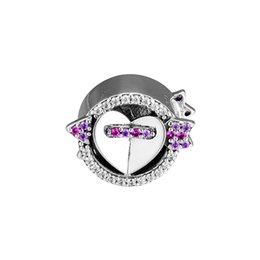 China Authentic 925 Sterling Silver Bead Charm The Moment You Fell In Love Sparkling Arrow And Heart Beads Fit Pandora Bracelet Diy Jewelry cheap love moment suppliers