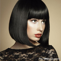 $enCountryForm.capitalKeyWord Australia - Womens Cute Short Neat Bangs Clip on Front Neat Bang Fringe Clip In Hair Straight Hair wig Hair ornament