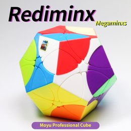 dino toys 2020 - Rediminx Cube 3x3 Magic Cubes 3x3x3 Speed Puzzle Dodecahedron Dino Plum Blossom Megaminxs Toy For Children Cubo Magico M