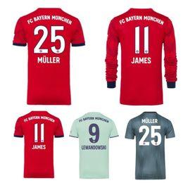 1f73738a3 Kids bayern Munich Soccer Jerseys baby infant boy designer clothes JAMES 18  19 football jersey man woman thai quality Maillot De Foot