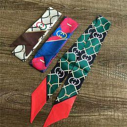 $enCountryForm.capitalKeyWord Australia - fashion men women hair band printing brand scarf brand hand bag decoration silk belt 120*7cm
