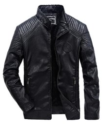 $enCountryForm.capitalKeyWord Australia - 2018 New Men's Winter Plus Size Plus Velvet Stand Collar Casual PU Leather Motorcycle Clothing Jacket