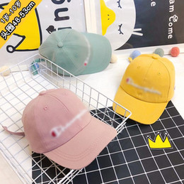 White color flat hat online shopping - C Letter Baseball Hat Colors Kids Child Letter Printed Embroidery Solid Color Snapback Outdoor Caps OOA6794