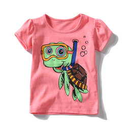 Toddler coTTon TshirTs online shopping - Baby Girls T Shirts Honeycherry Kids Clothes Cotton T shirt Toddler Pink Summer Top Tees Children Tshirts for Years