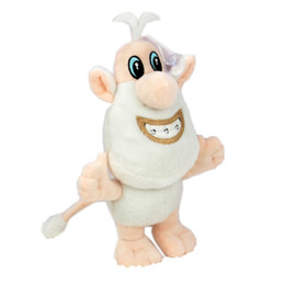 Small Stuffed toyS online shopping - 25cm Russian Cartoon TV Booba Buba Plush toy Doll Stuffed Animals small white pig Plush kids toys