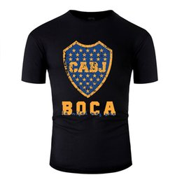Chegada Nova Boca Juniors, Argentina T-shirt Homens Anti-rugas O-Neck Boy Girl T-shirts Homme Hip Hop
