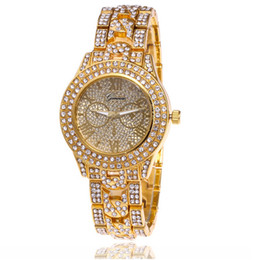 alloy battery UK - Steel band full of stars diamond lady's casual Quartz Watches