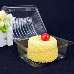 CupCake Cake box Container online shopping - Plastic Disposable Cake Container Bread Cupcakes Packaging Box with Lid Dessert Display Boxes