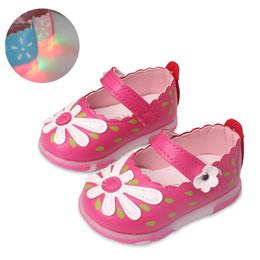 $enCountryForm.capitalKeyWord Australia - Baby Girls leather shoes Princess Flowers Kids casual light Shoe Summer Cute Toddler Baby Girl Shoes Kids Toddler Sandals
