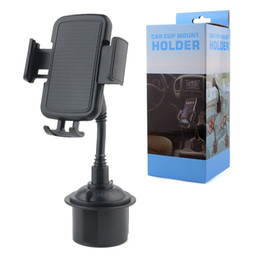 Wholesale Car Vehicle Cup Holder Phone Mount degree cell phone holder Car cup stand holders Compatible for Apple iphone Galaxy android smart phone