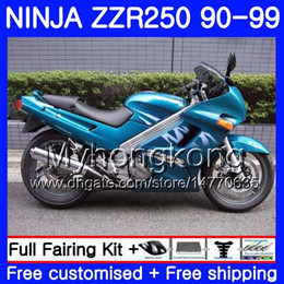 1993 kawasaki fairing online shopping - Bodywork For KAWASAKI NINJA ZZR Light cyan hot ZZR250 HM ZZR250R ZZR Fairings