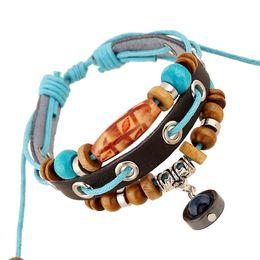 $enCountryForm.capitalKeyWord Australia - Unisex leather bracelet student jewelry small jewelry wholesale cross-border supply leather beaded bracelet