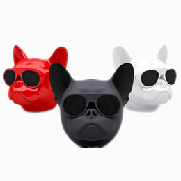 Speakers For Australia - Bulldog Head Speaker Portable Bluetooth Speakers 8W Output Bass Stereo Personalized Cool Artistic Wireless Speaker for PC Mobile Phone