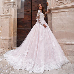 new full t shirt design 2020 - 2021 Lace Wedding Dresses Boho Bride Dresses Long Sleeves Custom Made Long Train Wedding Gowns Vintage Full Lace Sweep T