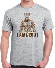 Funny nerd shirts online shopping - 611 I am Groot mens T shirt funny super hero guardian geek nerd cosplay retro Men S Lastest Fashion Short Sleeve Printed T Shirt