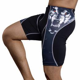 $enCountryForm.capitalKeyWord NZ - Casual Men's Short Pants Wolf 3d Print Compression Wear Under Pant Men Sports Gym Short Compression Pant Quick-drying Men Bottom