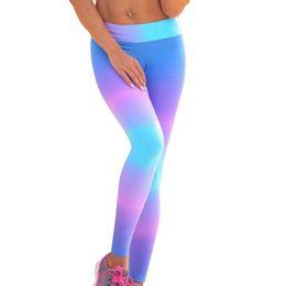 $enCountryForm.capitalKeyWord NZ - Gradient Color Rainbow Yoga Capris Pants Bandage Infinity Turnout Leggings Skinny Tights Womens Gym Trousers Eagle Rock Yoga #190994