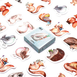 $enCountryForm.capitalKeyWord Australia - 46Pcs pack Forest Animals Paper Envelope European Style Message Card Letter Stationary Storage Paper Sticker Gift