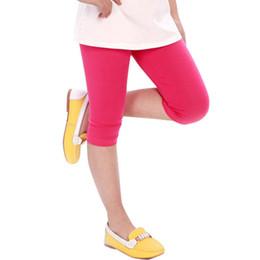 $enCountryForm.capitalKeyWord Australia - Wholesale Baby Kid Girl Candy Color Cotton Stretch Skinny Leggings Casual Capris Pant 2-7y M2