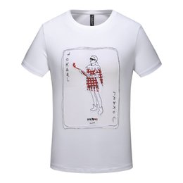 Men Playing Cards Australia - Crazy saleMen's T-shirt high quality personality playing card embroidery printing short-sleeved tide men mustoExplosion