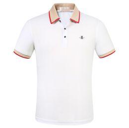 Großhandel 2019 freies verschiffen luxus designer baumwolle polo shirts männer high street fashion kleine biene druck polos herren desginer marke polo t-shirt