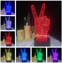 $enCountryForm.capitalKeyWord Australia - The Victory 3D YES Sign Hand V Gesture Glowing 7 Color Gradient LED Illusion Night Light Mood Child Kids Room Decor New Year Xmas Toy Gifts