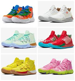 Kyrie size 12 online shopping - Kids Kyrie Pineapple House Spongebobs Basketball shoes sales With Box hot Irving boys men women shoes US4 jdisport