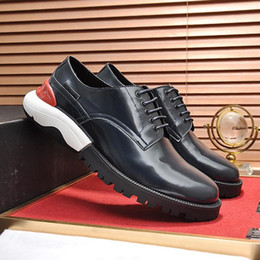 $enCountryForm.capitalKeyWord Australia - Vintage Derby Shoes Luxury Men's Shoes Drop Ship British Comfortable Leather Breathable Round Toe Thick Sole Lace Up Sneakers Fast Delivery