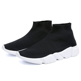 $enCountryForm.capitalKeyWord UK - Ankle Boot For Women Socks Boots Fashion Shoes Female Sneakers Casual Elasticity Low Heels Platform Black Shoes Plus Size 10 45