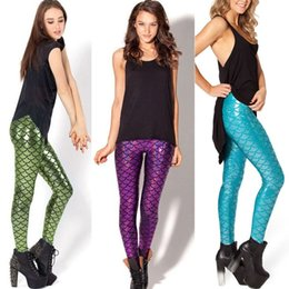 scale print leggings UK - Fashion New Women Trousers Digital Print Women Mermaid Fish Scale Leggings 3d Digital Print good quality