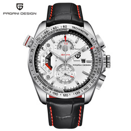 Discount pagani design watches Original PAGANI DESIGN Chronograph Sport Watches Japan Movement Stainless Steel Case Waterproof Quartz Watch Relogio Mas