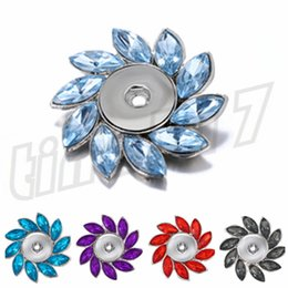 Flower Brooches Australia - Fashion alloy button Brooch latest all-drill flower-shaped Brooch various personality decorative Brooch T9C0068