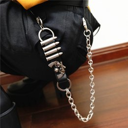 $enCountryForm.capitalKeyWord Canada - 2019 New Men Wallet Chains Keychain Jeans Punk Leather Bullet Belt Chain Fashion Trousers Waist Chain Accessories Jewelry Gift