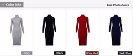 $enCountryForm.capitalKeyWord Australia - Women Warm Autumn Winter Sweater Knitted Dresses Slim Elastic Turtleneck Long Sleeve Sexy Lady Bodycon Robe Dresses designer clothes