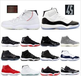 8516d848adb32b Concord High 45 11s Platinum Tinta Cap and Gown Uomo Scarpe da basket Gym  Red Bred Barons Space Jams 11 mens sport Sneakers designer scarpe da  ginnastica