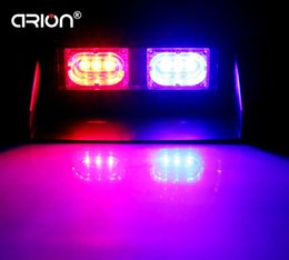 Fireman lamps online shopping - Super Bright LED Strobe Warning Light Car Styling W Red Blue Fireman Beacon Emergency Lamp Free Shippping